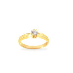 pierścionek zaręczynowy z białym oczkiem