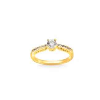 Pierścionek zaręczynowy złoty