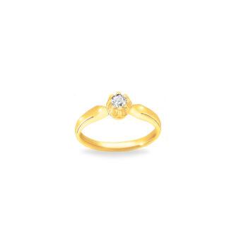 Pierścionek zaręczynowy wykonany ze złota