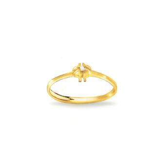 Prosty pierścionek zaręczynowy
