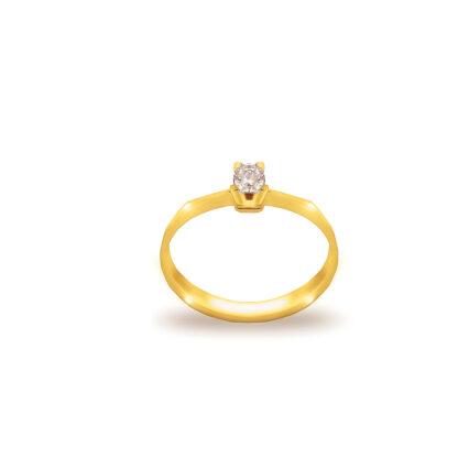 Pierścionek zaręczynowy z najwyższej jakości złota